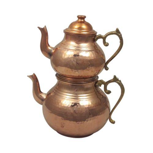 کتری و قوری دسته برنجی زنجان مدل 1763