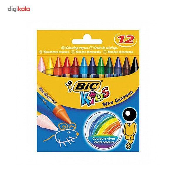 مداد شمعی بیک مدل کیدز - بسته 12 رنگ main 1 1