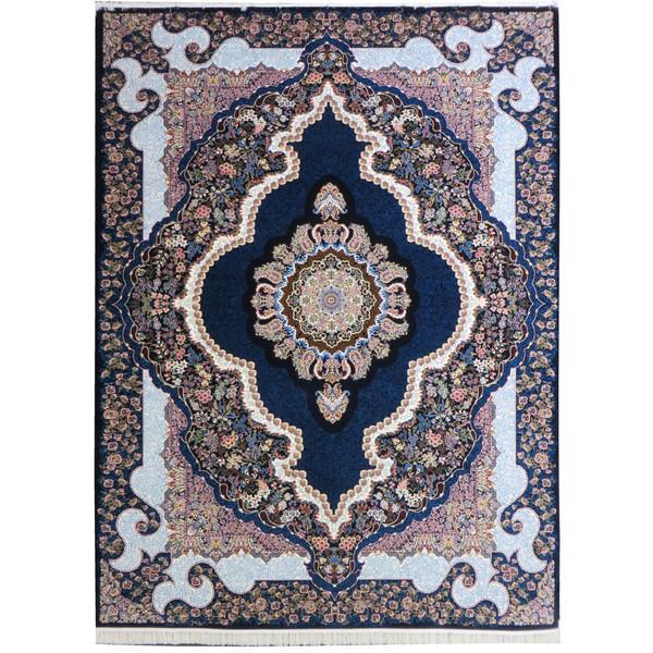 فرش ماشینی پارسه کدFSM107 زمینه سورمه ای