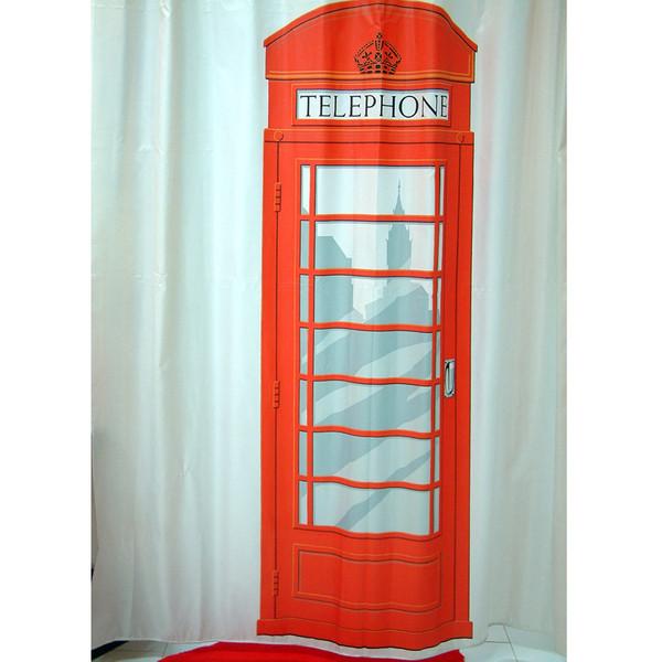 پرده حمام فرش مریم مدل Telephone - سایز 200 × 180 سانتی متر
