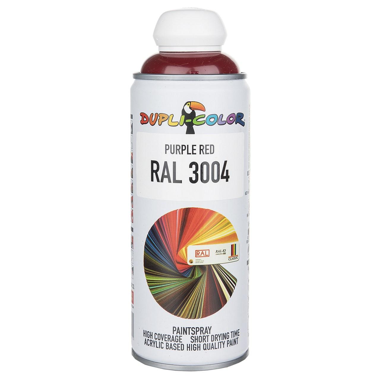 اسپری رنگ آلبالویی دوپلی کالر مدل RAL 3004 حجم 400 میلی لیتر