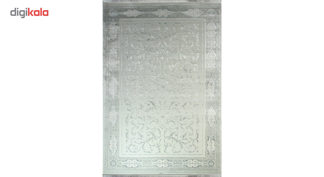 فرش ماشینی زمرد مشهد طرح 1905 زمینه آبی