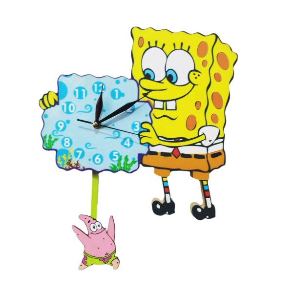 ساعت دیواری جیک جیک مدل باب اسفنجی