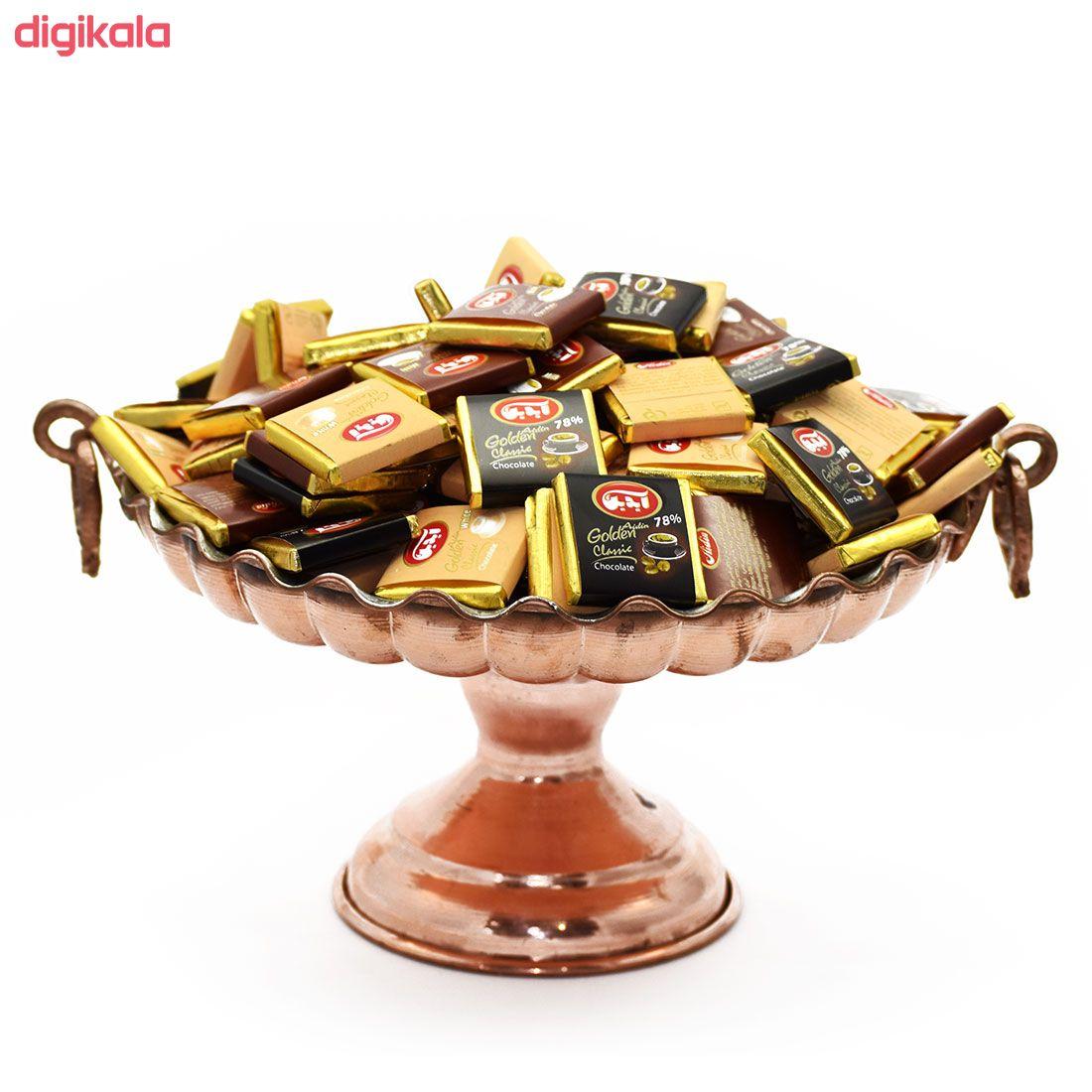 شکلات شیری سفید و تلخ گلدن آیدین - 200 گرم main 1 1