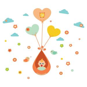 استیکر سالسو طرح Baby Balloon