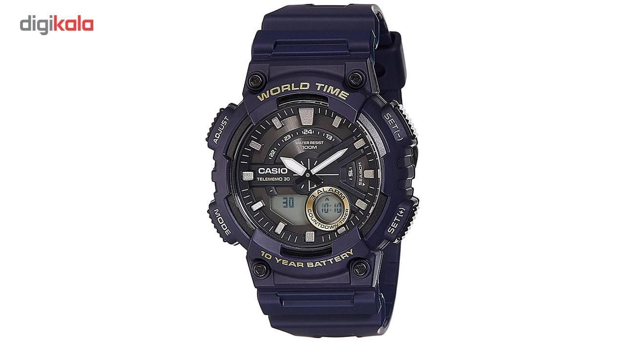 ساعت مچی عقربه ای مردانه کاسیو مدل AEQ-110W-2AVDF  Casio AEQ-110W-2AVDF Watch For Men