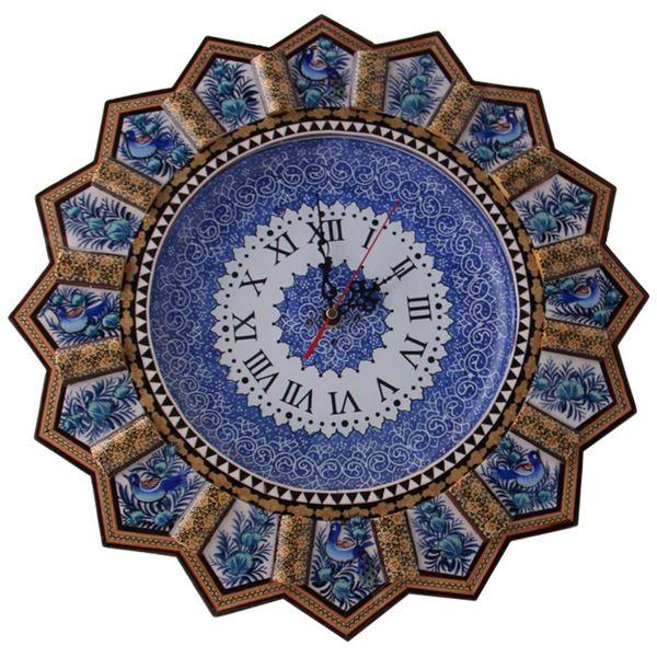 ساعت دیواری خاتم و میناکاری مارکت لند کد Mkh166