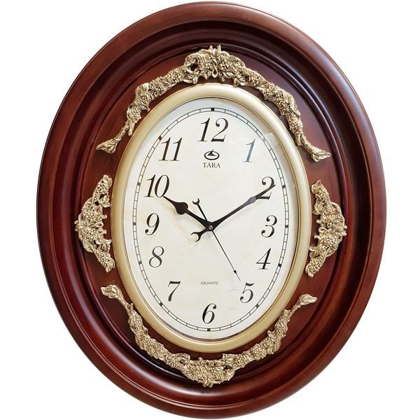 ساعت دیواری تارا مدل 113 گل برجسته