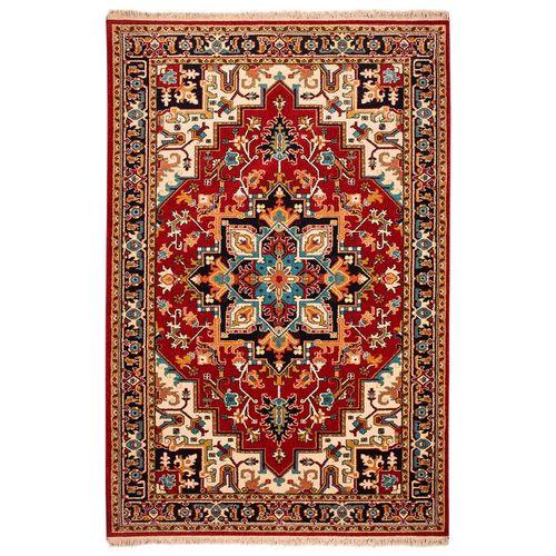 فرش ماشینی ساوین طرح هریس کد FSM47 زمینه قرمز