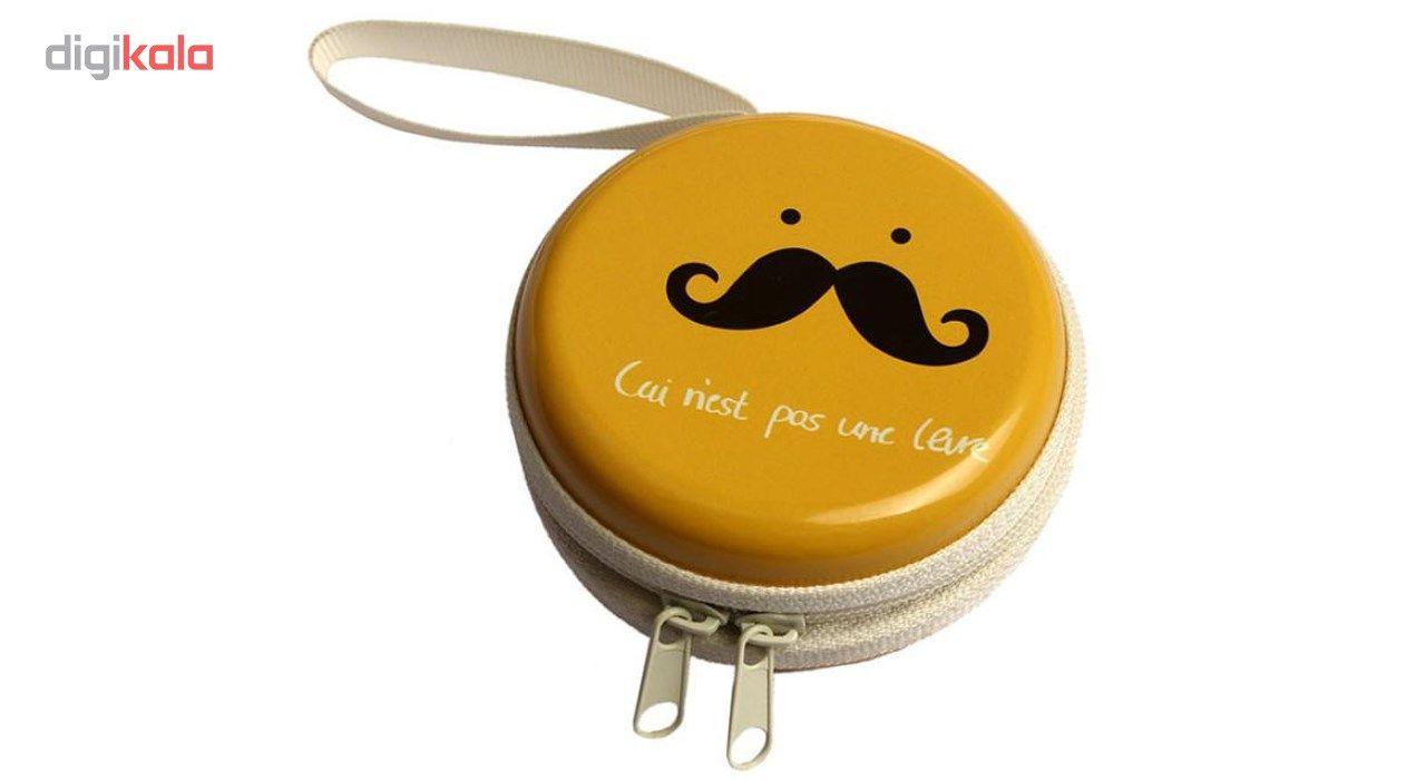 کیف هندزفری گلدونه مدل Moustache main 1 3