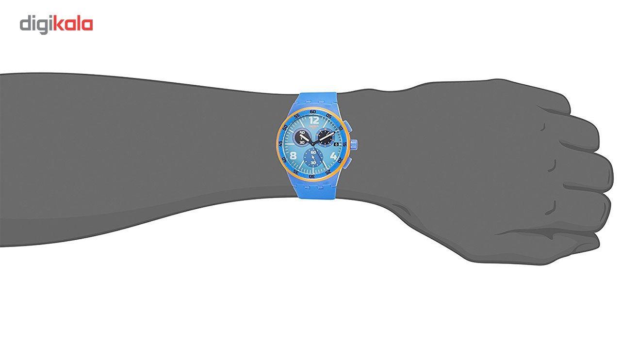 ساعت مچی عقربه ای مردانه سواچ مدل SUSN413 -  - 5