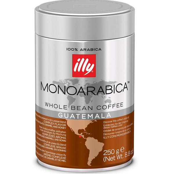 قوطی دانه قهوه ایلی مدل MonoArabica Guatemala مقدار 250 گرم