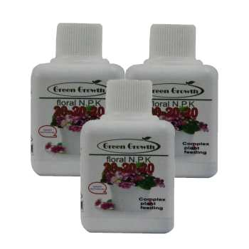 کود مایع کامل گرین گروت مدل Floral N.P.K بسته 3 عددی