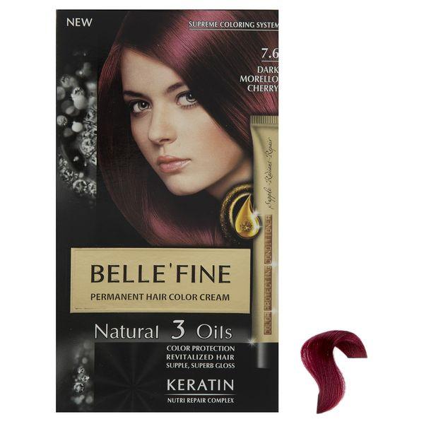 کیت رنگ مو بله فاین سری Natural 3 Oils شماره 7.6
