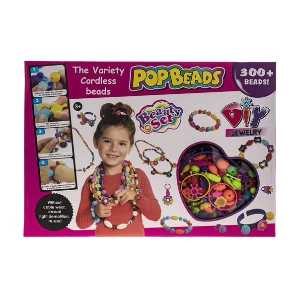 ست اسباب بازی جواهر سازی 300 تکه مدل Pop Beads