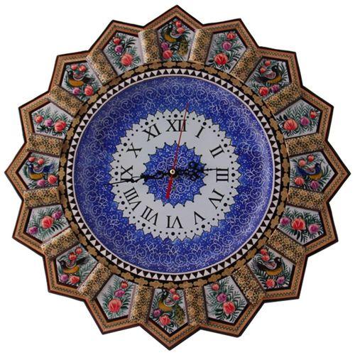 ساعت دیواری خاتم کاری و میناکاری مارکت لند کد Mkh164