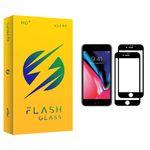 محافظ صفحه نمایش فلش مدل +HD مناسب برای گوشی موبایل اپل iPhone 8 بسته دو عددی