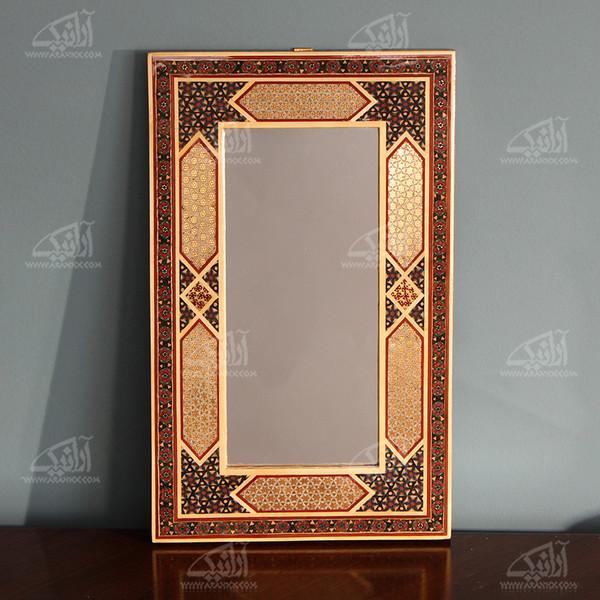 آینه خاتم  رنگ قهوه ای طرح اِرَم مدل 1509700006