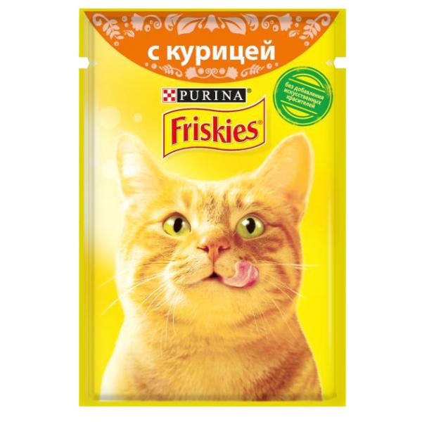 غذای پوچ گربه فریسکیز مدل Chicken وزن 85 گرم