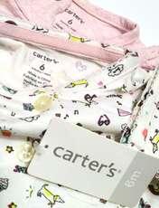ست کت و پیراهن نوزادی دخترانه کارترز طرح گربه کد M437 -  - 4