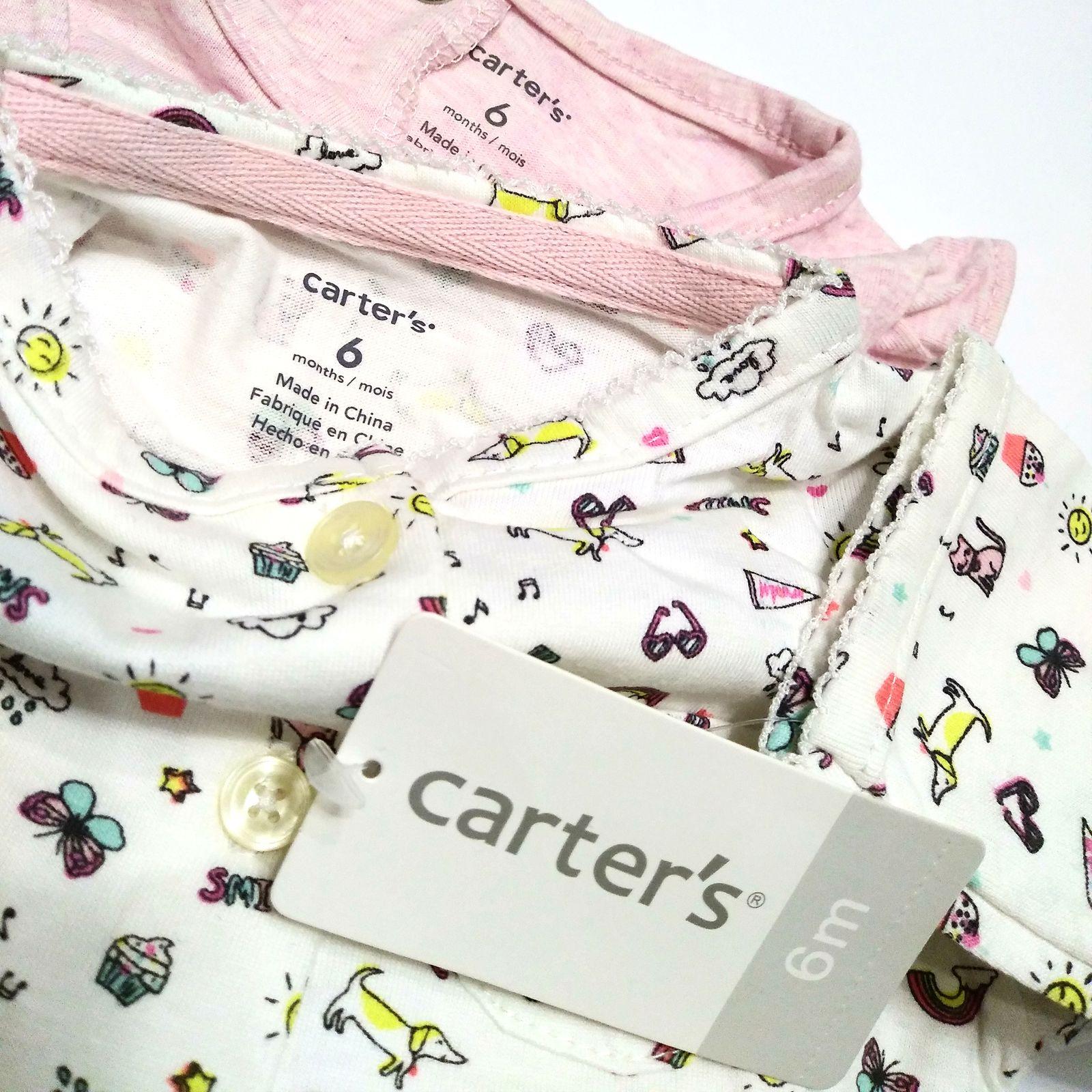ست کت و پیراهن نوزادی دخترانه کارترز طرح گربه کد M437 -  - 5