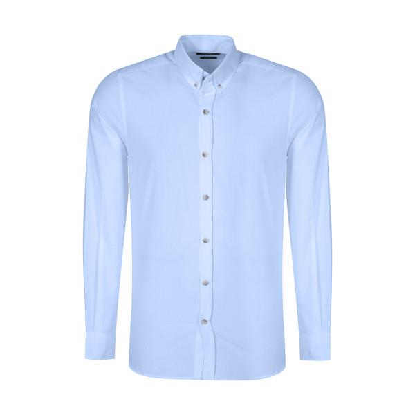 پیراهن آستین بلند مردانه ال سی وایکیکی مدل 0SA013Z8-J0M-BLUE