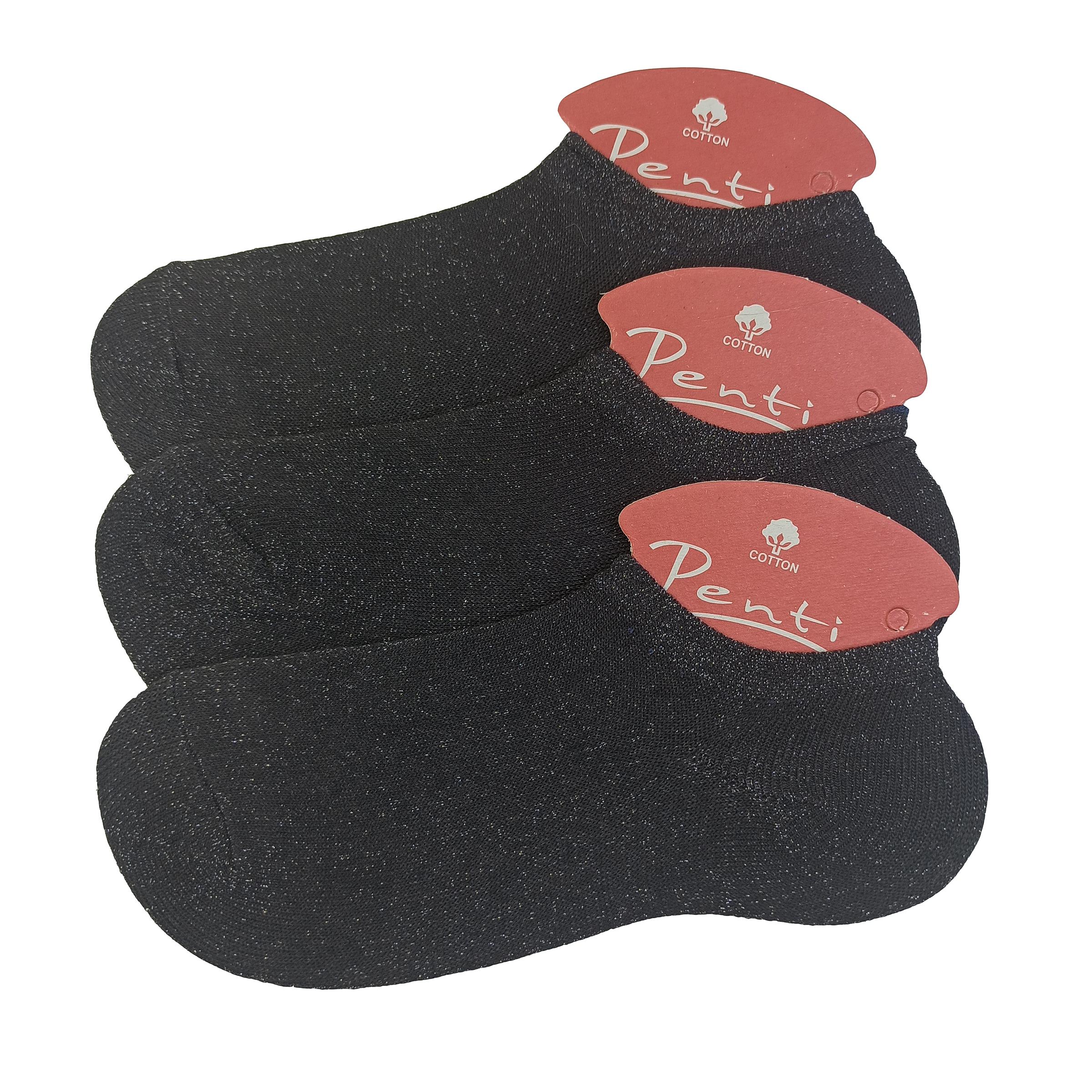 جوراب زنانه پنتی کد J-001 بسته سه عددی