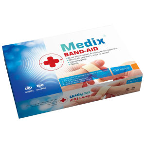چسب زخم مدیکس مدل Antiallergic بسته 100 عددی