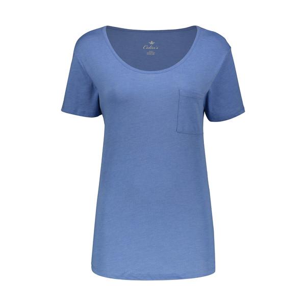 تی شرت زنانه کالینز مدل CL1026399-BLUEMELANGE