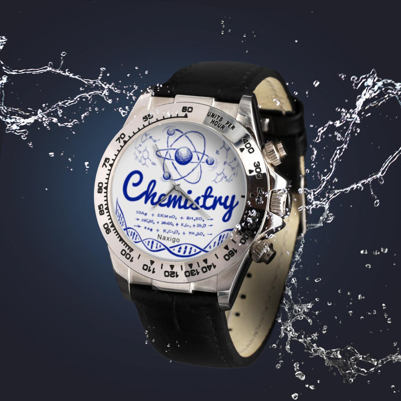 ساعت مچی  مردانه ناکسیگو طرح شیمی کد LS3541