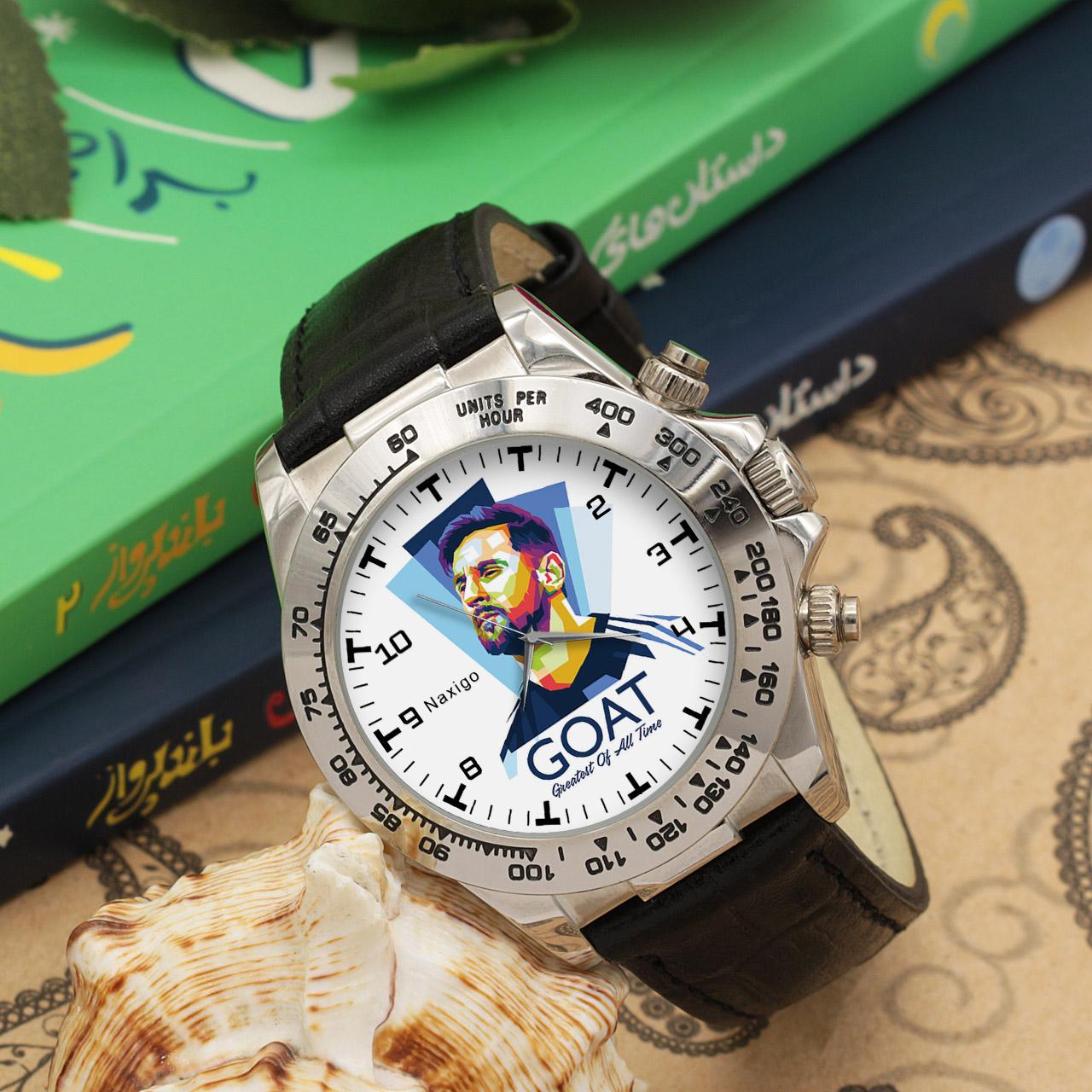 ساعت مچی  مردانه ناکسیگو طرح لیونل مسی کد LS3555