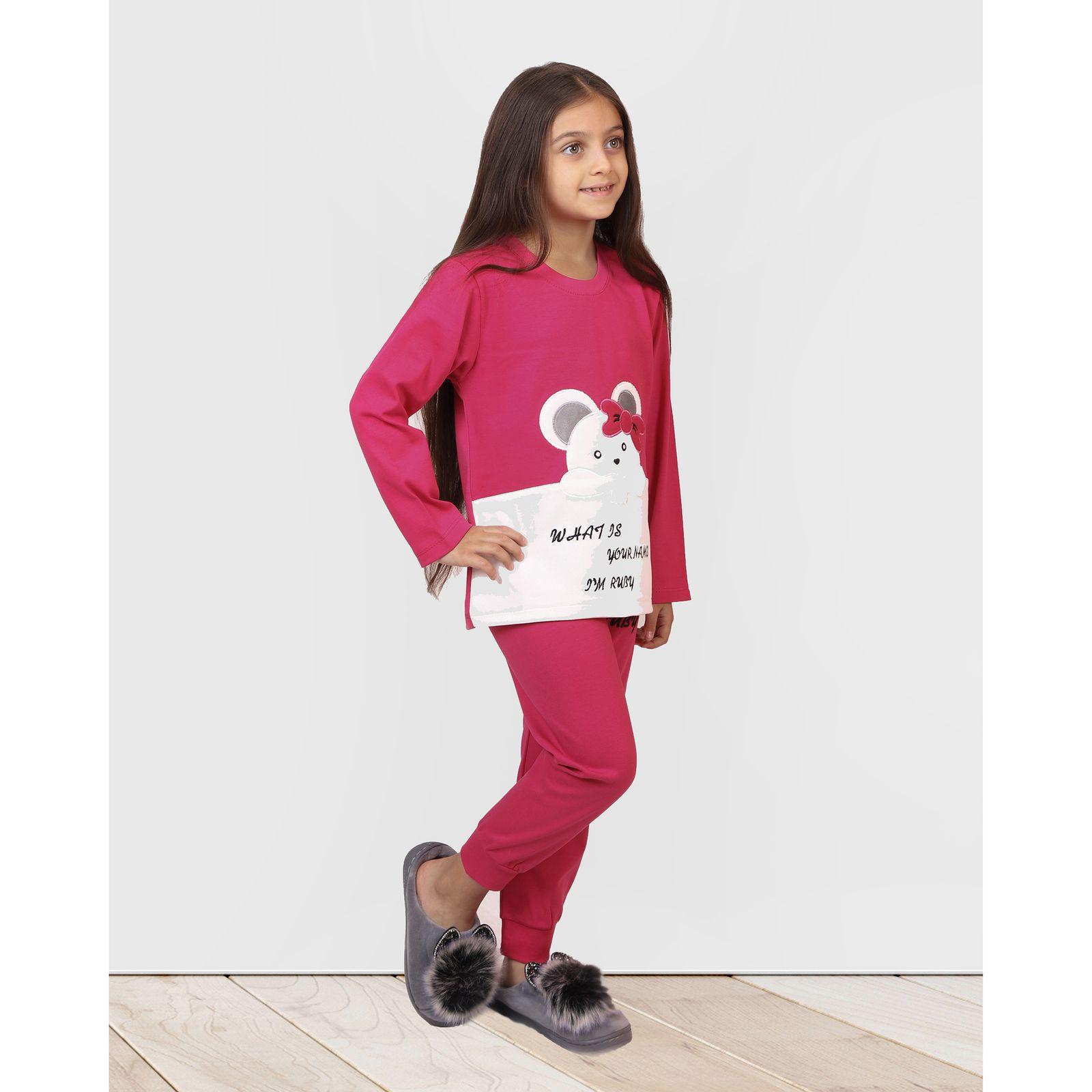 ست تی شرت و شلوار دخترانه مادر مدل 301-66 main 1 10