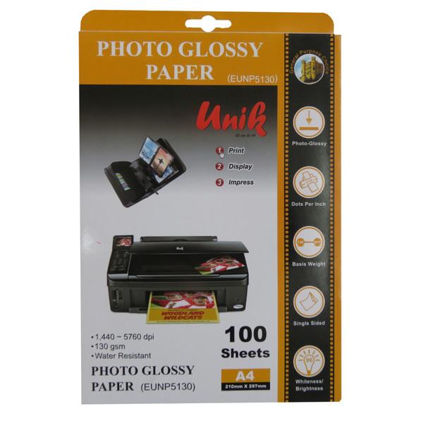 کاغذ چاپ عکس یونیک   کدNP5130   سایزA4   بسته100عددی