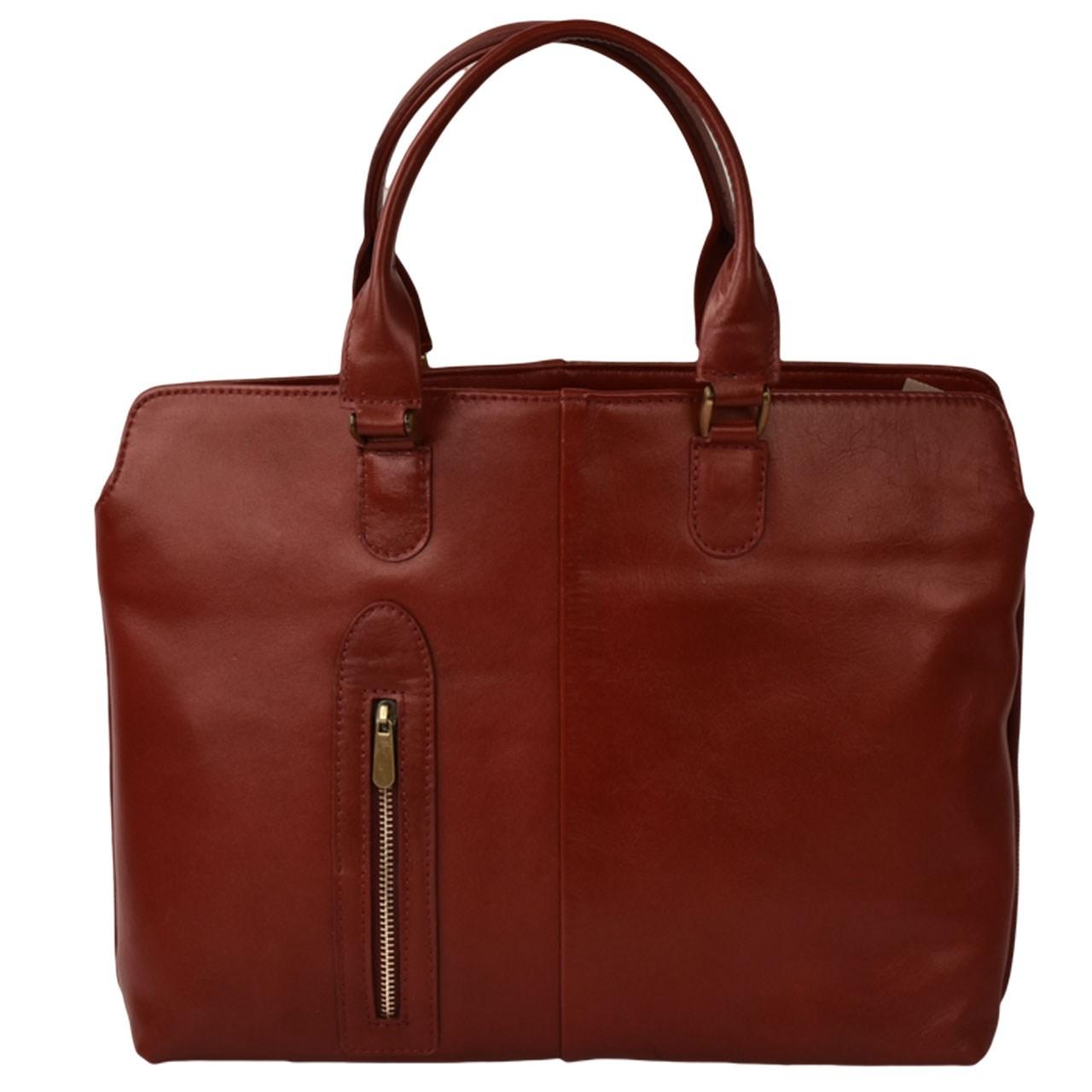 کیف دستی چرم طبیعی کهن چرم مدل V150