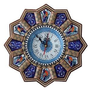 ساعت دیواری خاتم و میناکاری مارکت لند کد Mkh204