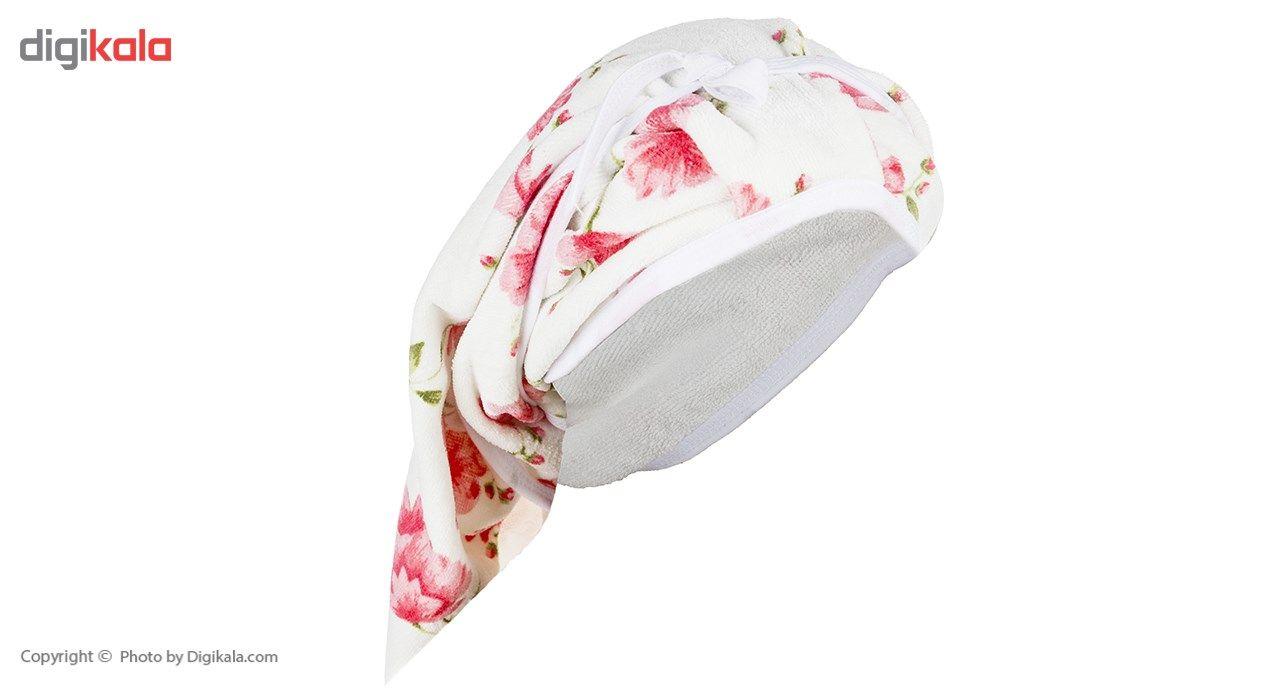 روسری حوله ای نارسیس طرح Sara main 1 1