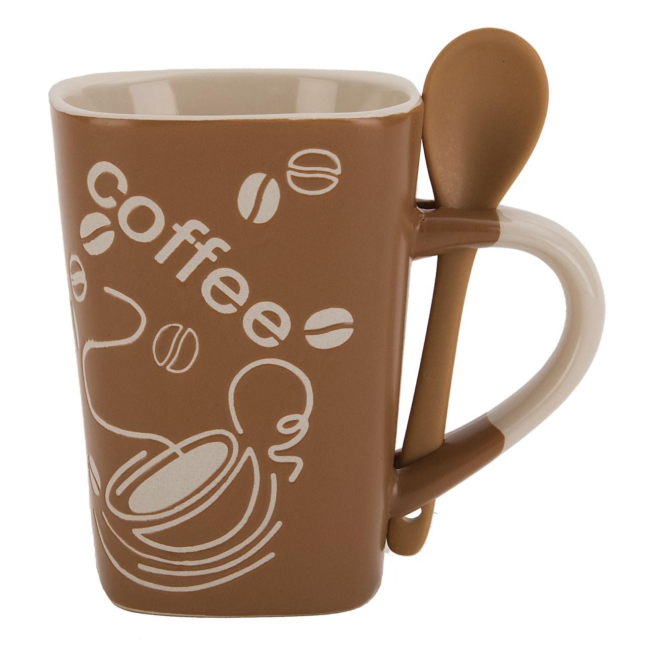 عکس لیوان قاشق دار راشا مدل Coffee 1