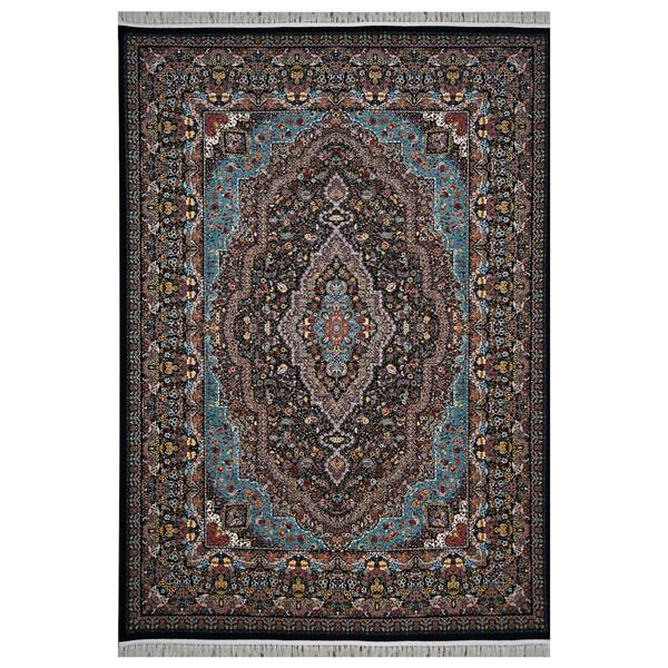 فرش ماشینی  فرش هدیه طرح مسیحا زمینه سورمه ای