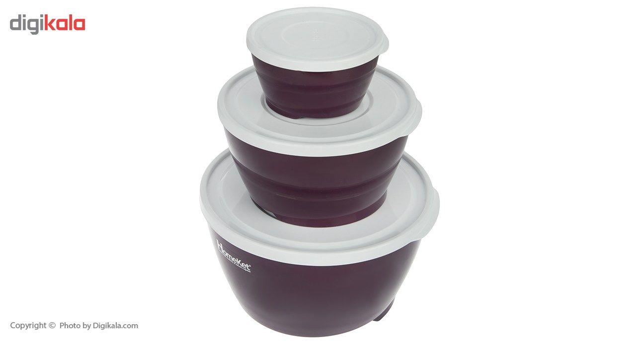 ظرف نگهدارنده هوم کت مدل Violet بسته 3 عددی main 1 2