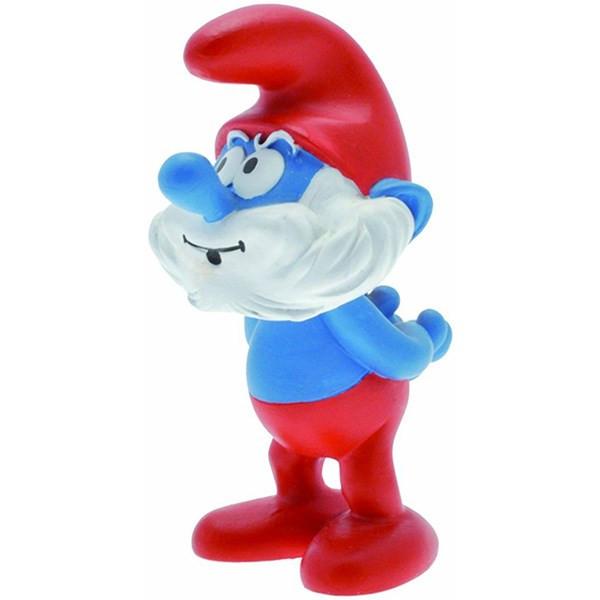 عروسک اسمورف بابانوئل پلستوی کد 00151 سایز 1