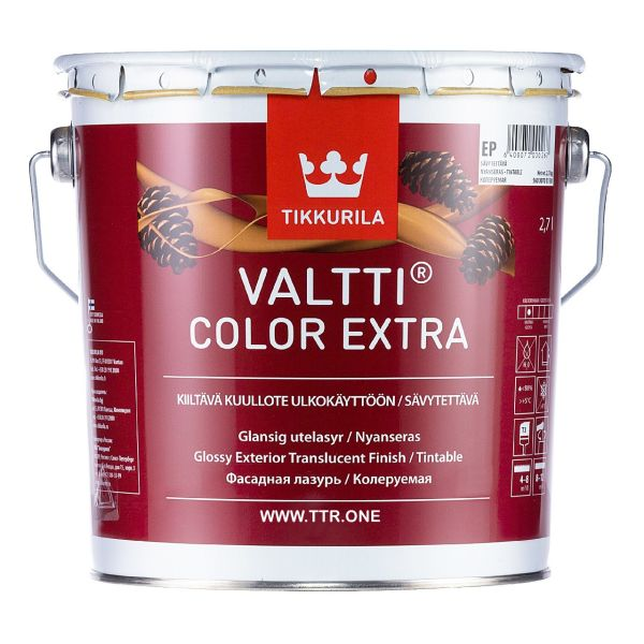 رنگ پایه روغن تیکوریلا مدل Valtti Color EXTRA 5052  حجم 3 لیتر