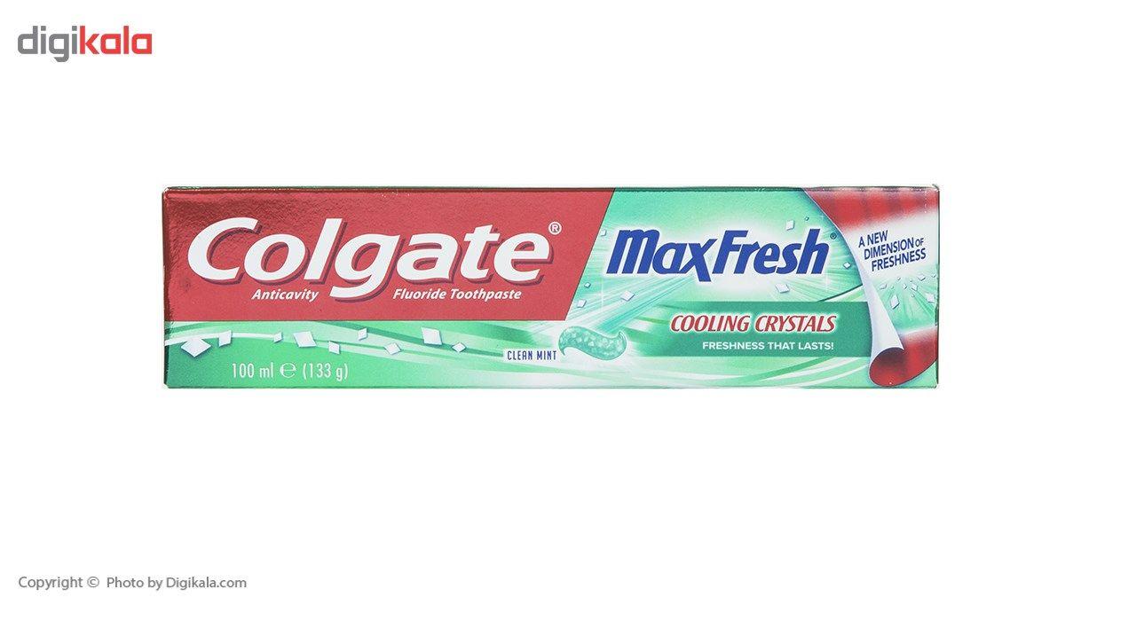 خمیر دندان کلگیت سری Max Fresh مدل Cooling Crystals حجم 100 میلی لیتر main 1 1