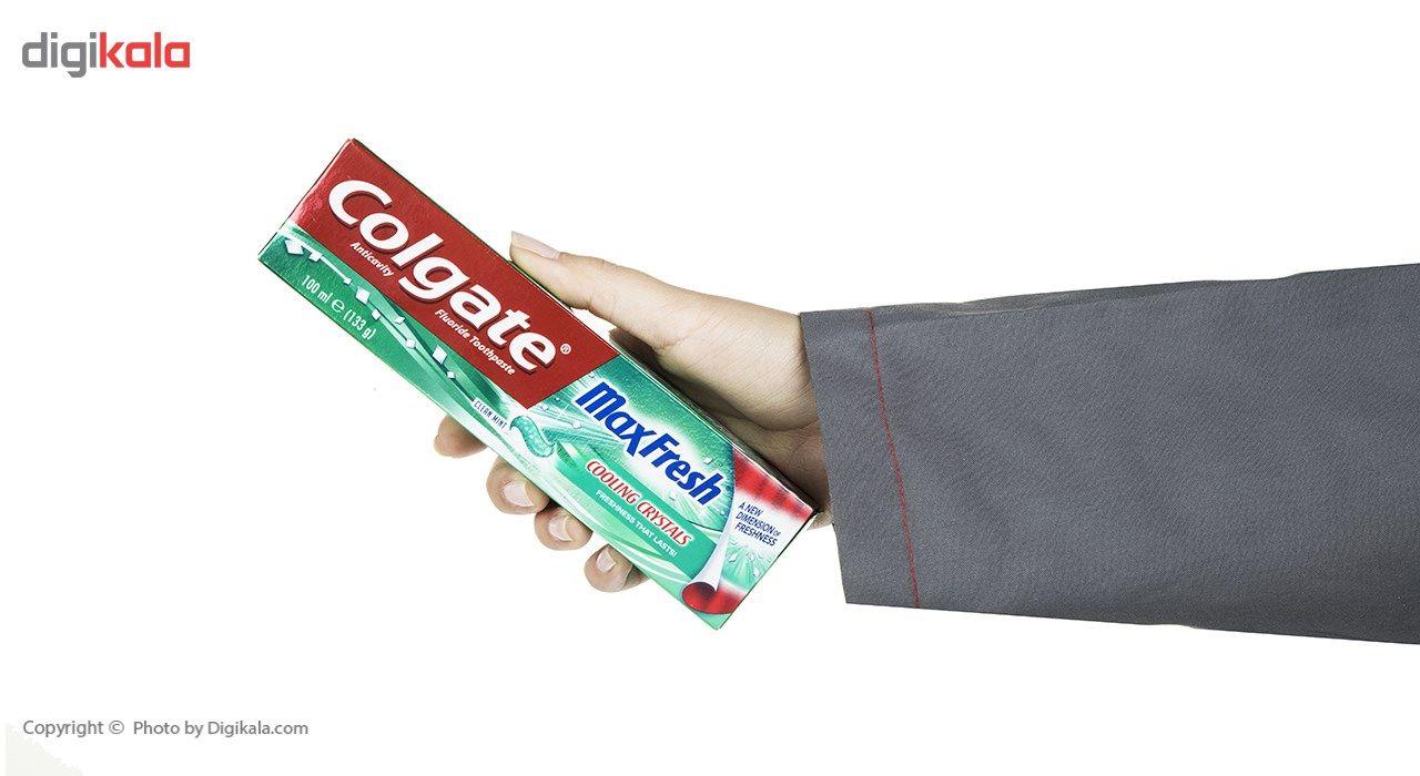 خمیر دندان کلگیت سری Max Fresh مدل Cooling Crystals حجم 100 میلی لیتر main 1 2