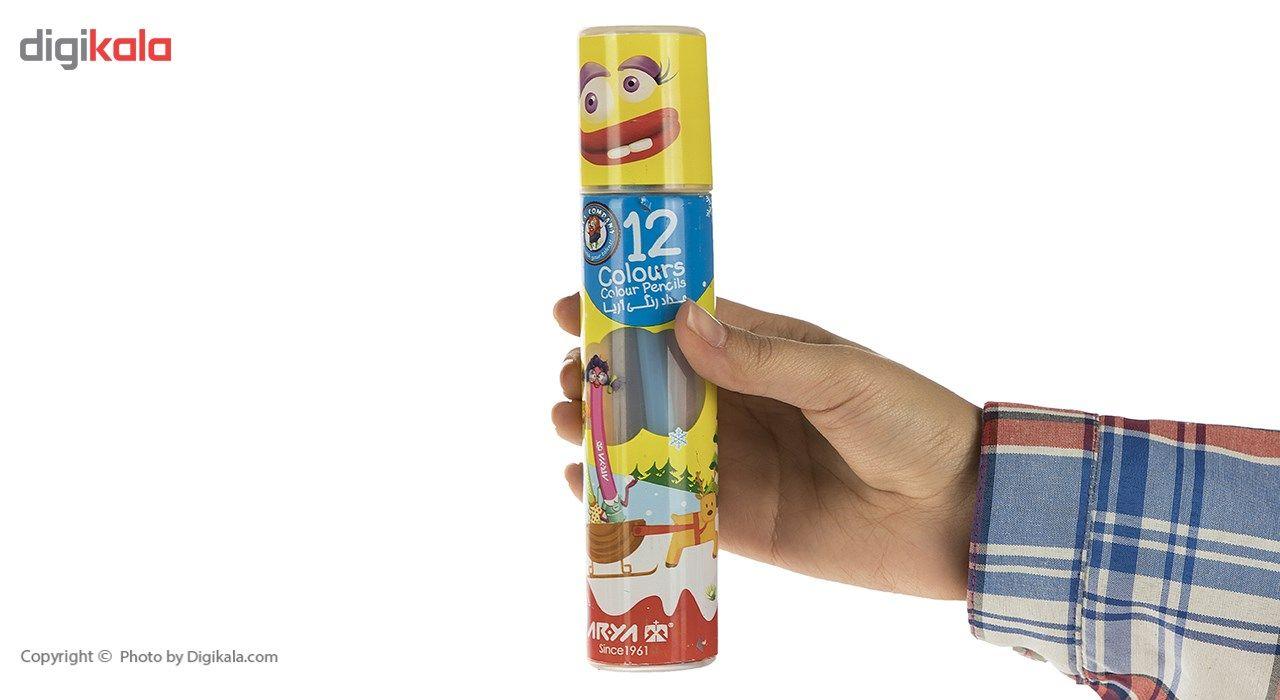 مداد رنگی 12 رنگ آریا مدل 3051 main 1 5