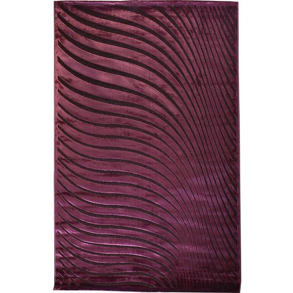 فرش ماشینی شنل پرسان کد 0411 زمینه بادمجانی