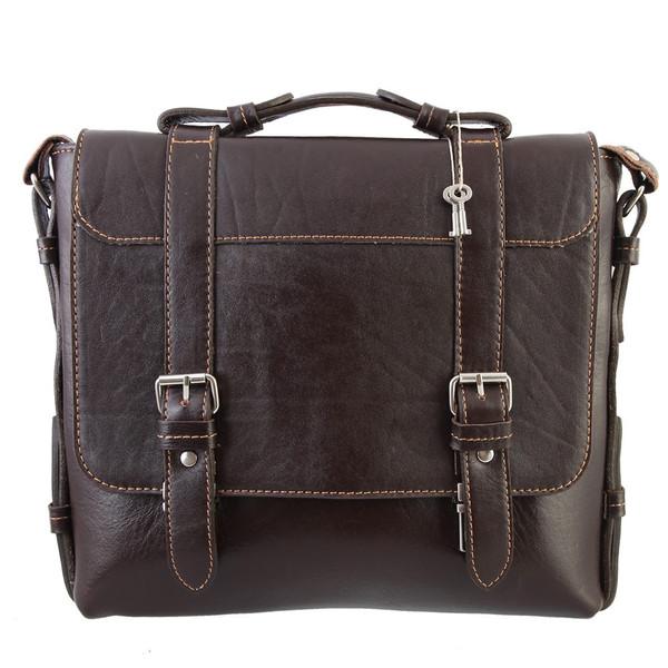 کیف دوشی چرم طبیعی گالری ماندگار مدل اسپرت کد 136030