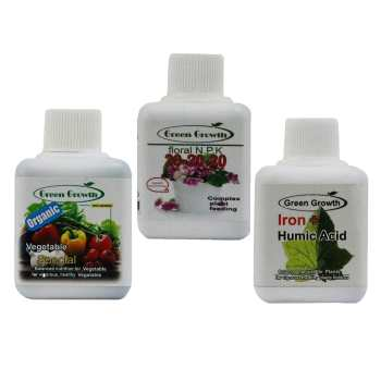 پک کود مایع مخصوص سبزی و صیفی گرین گروت مجموعه 3 عددی