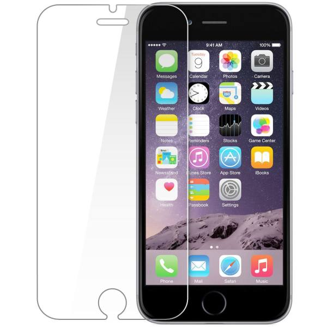 محافظ صفحه نمایش شیشه ای تمپرد مناسب برای گوشی آیفون 6 Plus