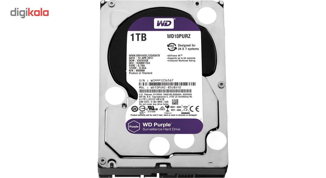 هارددیسک اینترنال وسترن دیجیتال مدل Purple WD10PURZ ظرفیت 1 ترابایت main 1 2