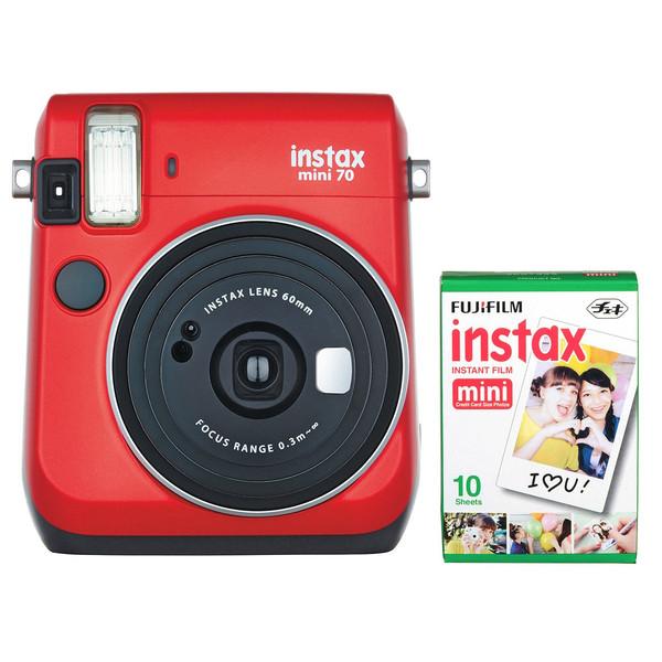دوربین عکاسی چاپ سریع فوجی فیلم مدل Instax mini 70 همراه با یک بسته فیلم 10 تایی
